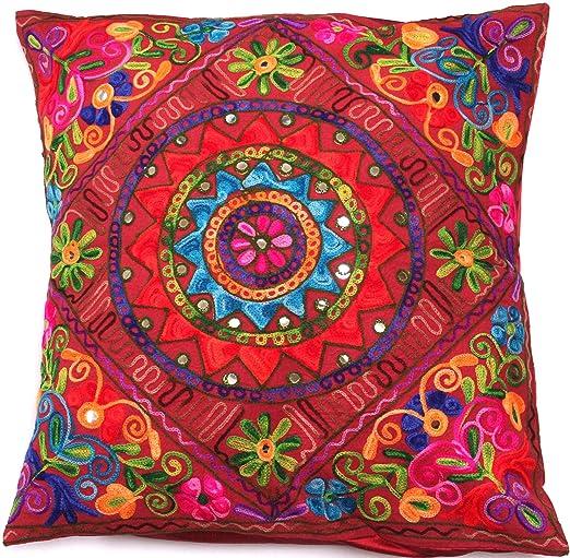 Flores Granate Rojo Vino Lotus Mandala Multi Color funda ...