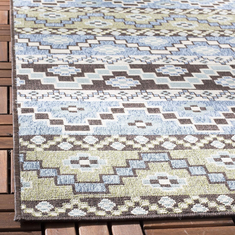 Safavieh In- und Outdoorteppich Blau // Cr/ème VER095 160 x 230 cm Gewebter Polypropylen