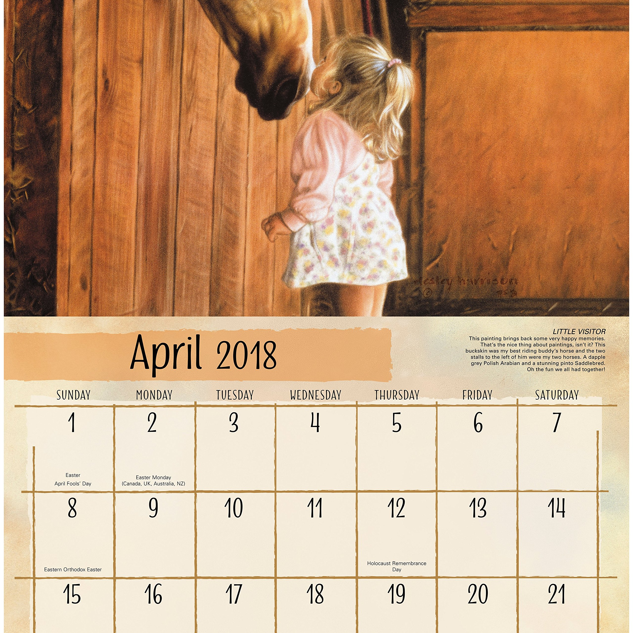 Help Girls horse riding calendar think, that