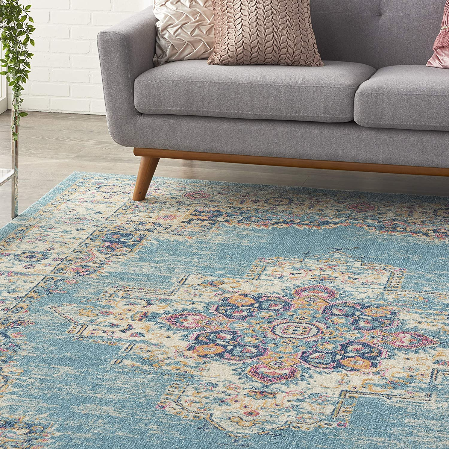 GREY Nourison Passion Traditional Area Rug 110X6