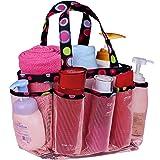 Topfox 8-Pocket Bath Organizer Bag, Pink