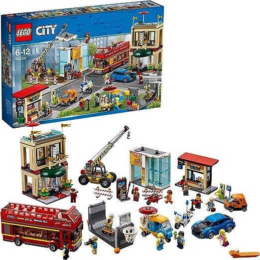LEGO City - Gran Capital, Juguete Creativo de Construcción con Coche, Hotel, Autobús, Moto y Grúa para Niños y Niñas de 6 a 12 Años, Incluye Minifiguras (60200): LEGO: Amazon.es: Juguetes y juegos
