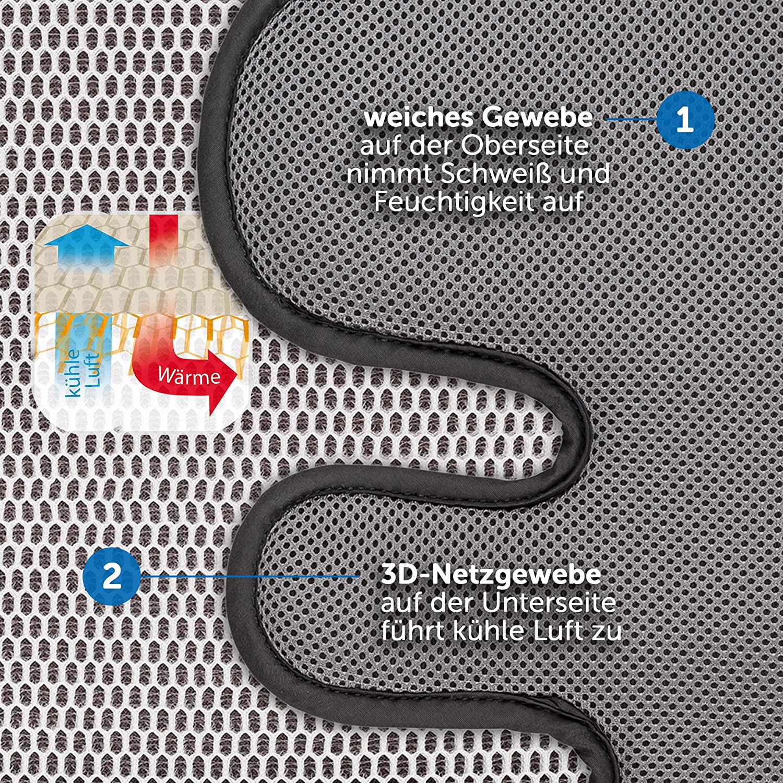 Assise poussette Universelle Absorbant Coussin de Si/ège Poussette et Si/ège Auto B/éb/é pour l/'/ét/é Prot/ège contre les t/âches Anti-transpiration Respirant