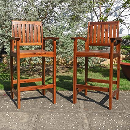 Amazoncom International Caravan Highland 32 Patio Bar Stool Set