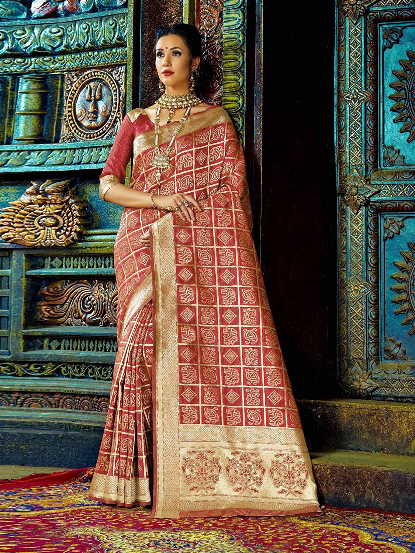 ef1671b39 ... ELINA FASHION Sarees for Women Banarasi Art Silk Woven Saree l Indian  Wedding Wear Sari 2584 ...