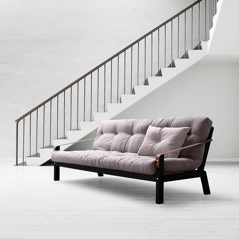 Karup – Poesie, Sofa Bett: Futon, natur Holz Rahmen Light Grey ...
