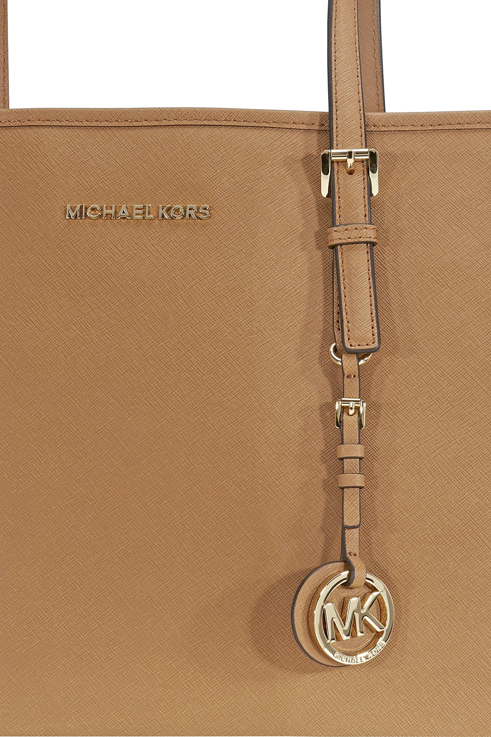 Michael Kors Jet Set Medium Travel Saffiano Leather Tote - Acorn by Michael Kors (Image #4)