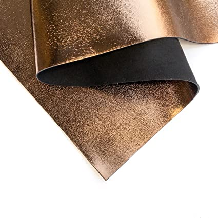 New Dye Lot Metallic Leather 8x10 Elegant Mystic GOLD on TAN Cowhide 2-2.5 oz .8-1mm PeggySueAlso\u2122 E2869-02 Full hides available