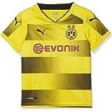 Puma Kinder Bvb Kids Home Replica Shirt with Sponsor Logo Fußball T-Shirt
