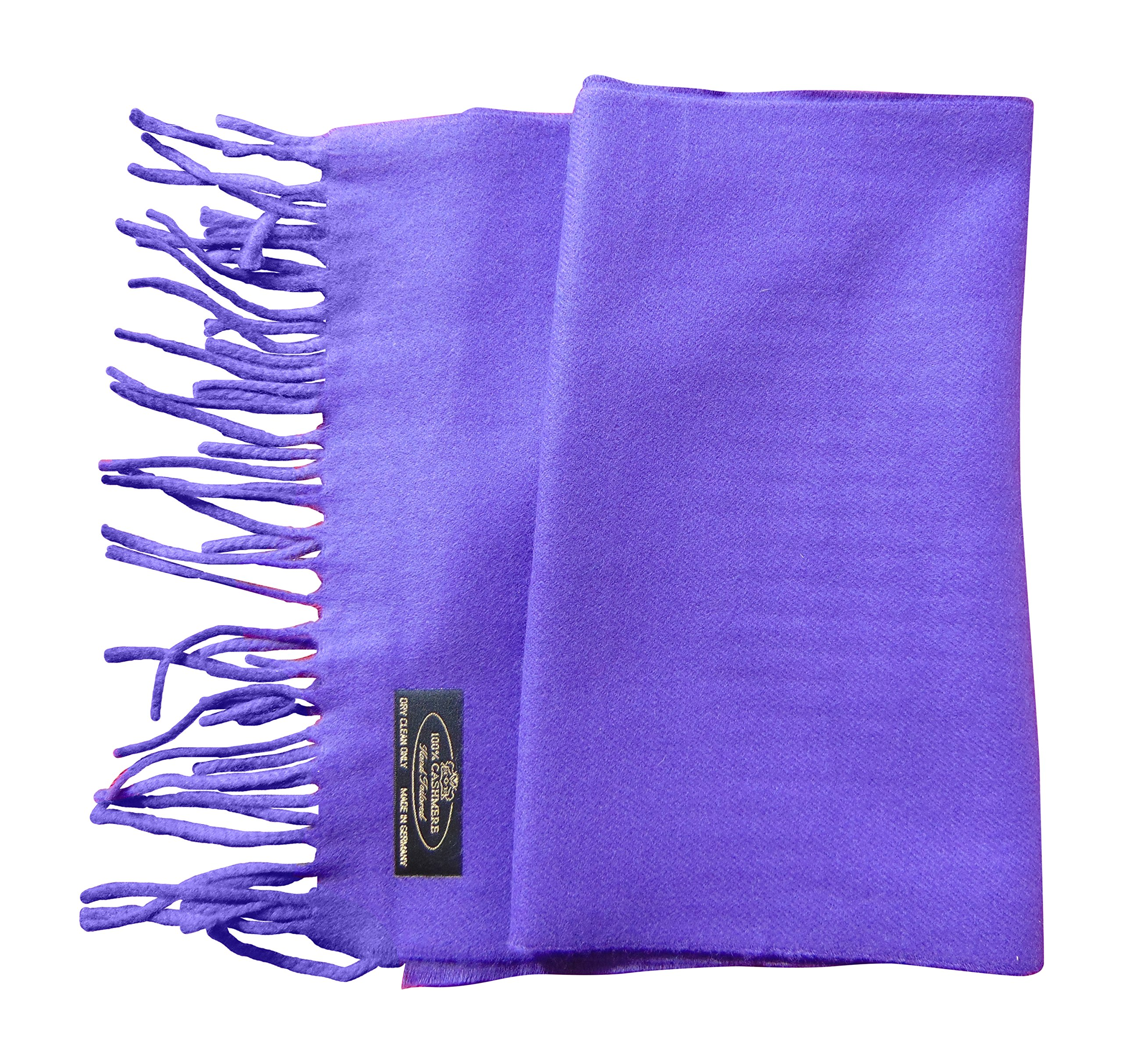 Annys Super Soft 100% Cashmere Scarf 12 X 72 with Gift Bag (Purple)