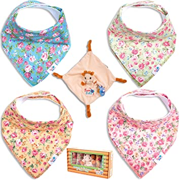 Amazon.com: Bebé de baberos Bandana Drool Set de regalo por ...