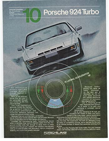 1981 Vintage Magazine Advertisement Porsche 924 Turbo