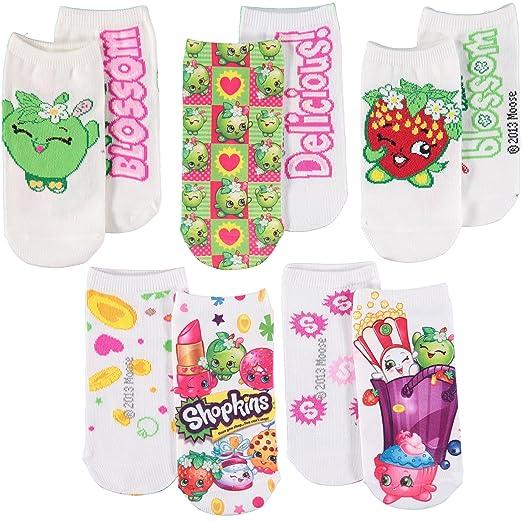 0a6d55388c0 Amazon.com  Shopkins Girls  Printed No-Show Sock - 5 Pack  Clothing