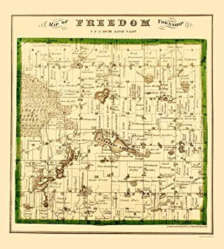 Amazoncom Old City Map Freedom Michigan Landowner Krause - Michigan land ownership maps