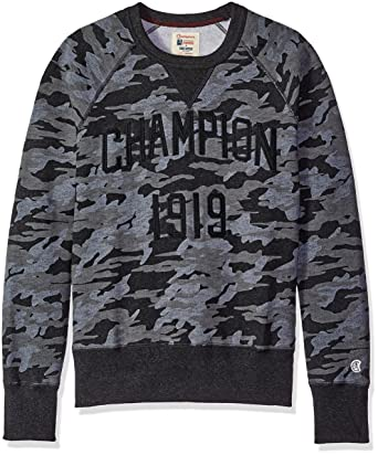 8409f9d5 Todd Snyder + Champion Camo Print Sweatshirt Faded Black Men's Sweatshirt.  Roll over image to ...