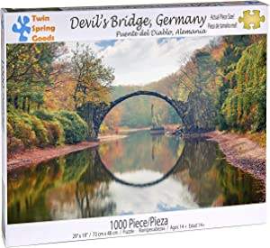 Twin Spring Goods 1000 Piece Jigsaw Puzzle, Devil's Bridge, Germany, 1,000 pcs