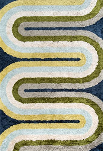 Novogratz Retro Collection Retro Wave Shag Area Rug