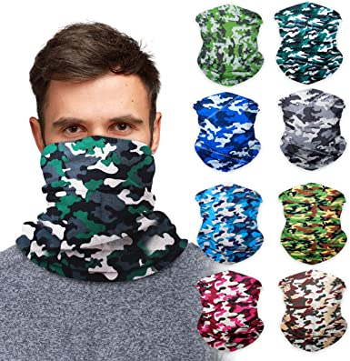 zingyone Seamless Bandana Headband Multifunction Bandanas for Dust Neck Gaiter Cover Scarf Bandana for Outdoors Sports