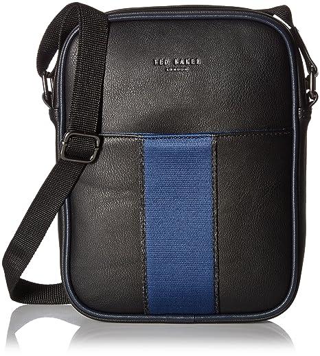 eea0c8e78f1194 Ted Baker Man Bag Escabar in Black   Navy  Amazon.ca  Luggage   Bags