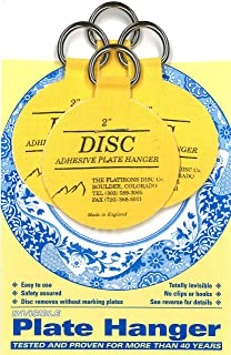 Invisible English Disc Adhesive Large Plate Hanger Set (4 - 2 Inch Hangers)  sc 1 st  Amazon.com & Amazon.com: Flatiron Disc Invisible Plate Hanger 5.5-Inch: Home ...