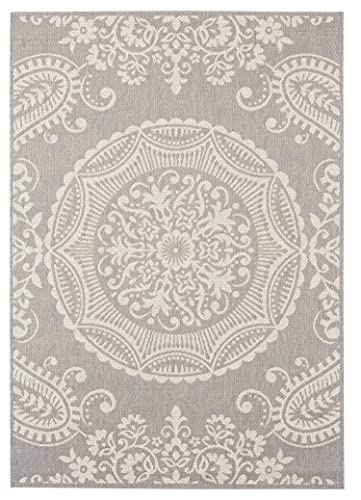 Balta Rugs Highland Indoor Outdoor Area Rug, 5 x 8 , Light Grey