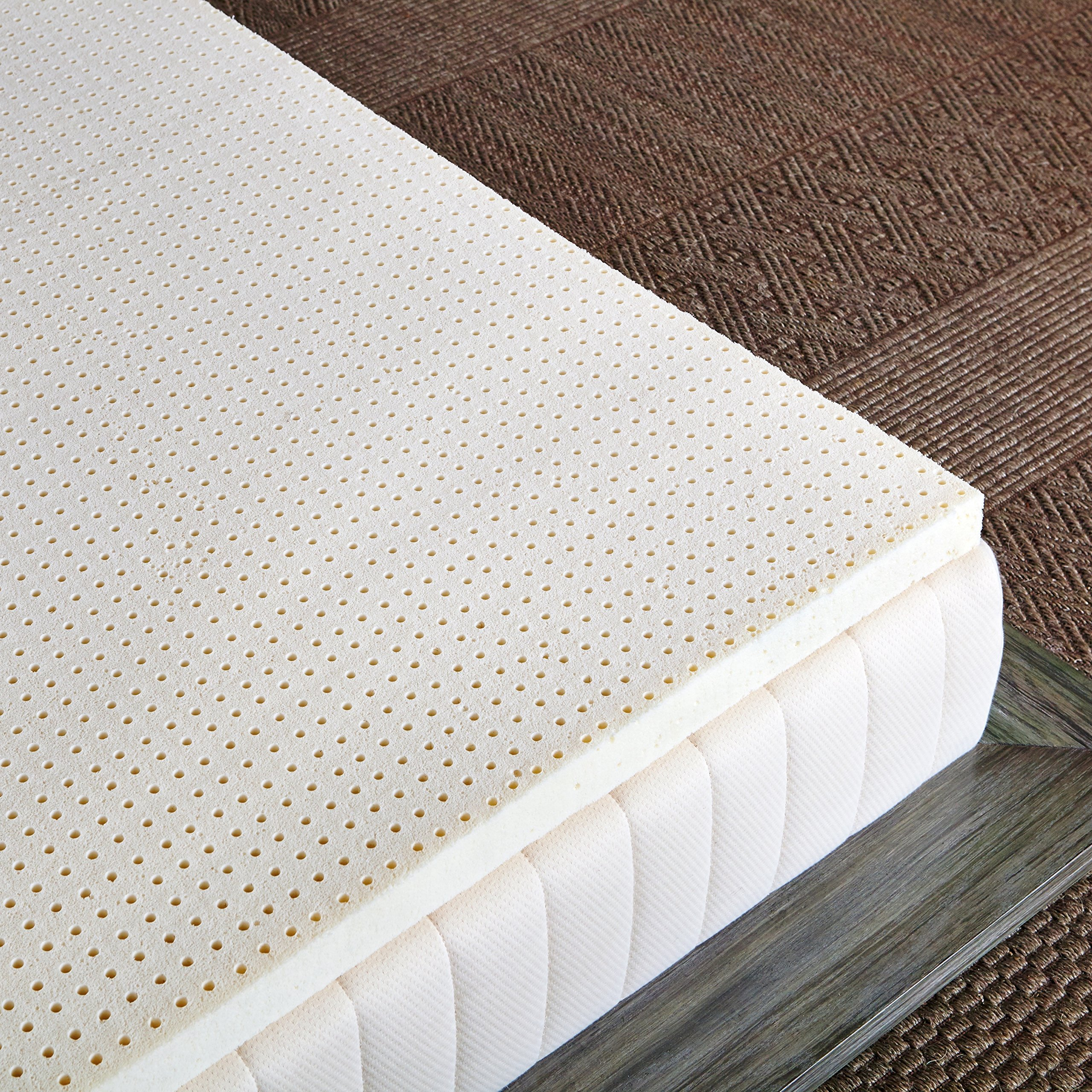 Pure Green 100% Natural Latex Mattress Topper - Firm - 3'' Queen Size