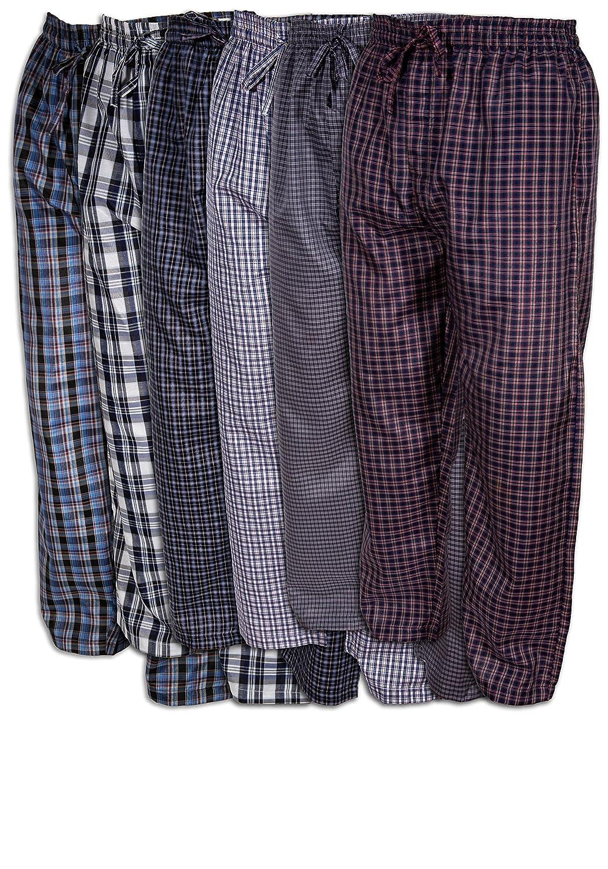Best Brand Basics Basics Men's 6 Pack Woven Drawstring Thin - Lightweight Sleep & Lounge Pants 74441TCX3X2