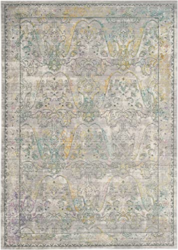 Safavieh Mystique Collection MYS925R Vintage Watercolor Grey and Multi Distressed Area Rug 9 x 12