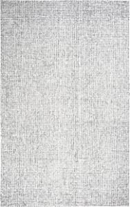 Rizzy Home Brindleton Collection Wool Area Rug, 3' x 5', Gray/Gray/Rust/Blue Solid