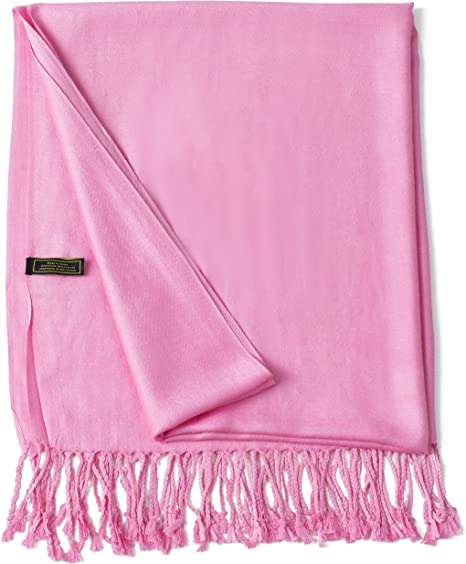 CJ Apparel Black /& Pink Solid Colour Design Shawl Seconds Scarf Pashmina **NEW**
