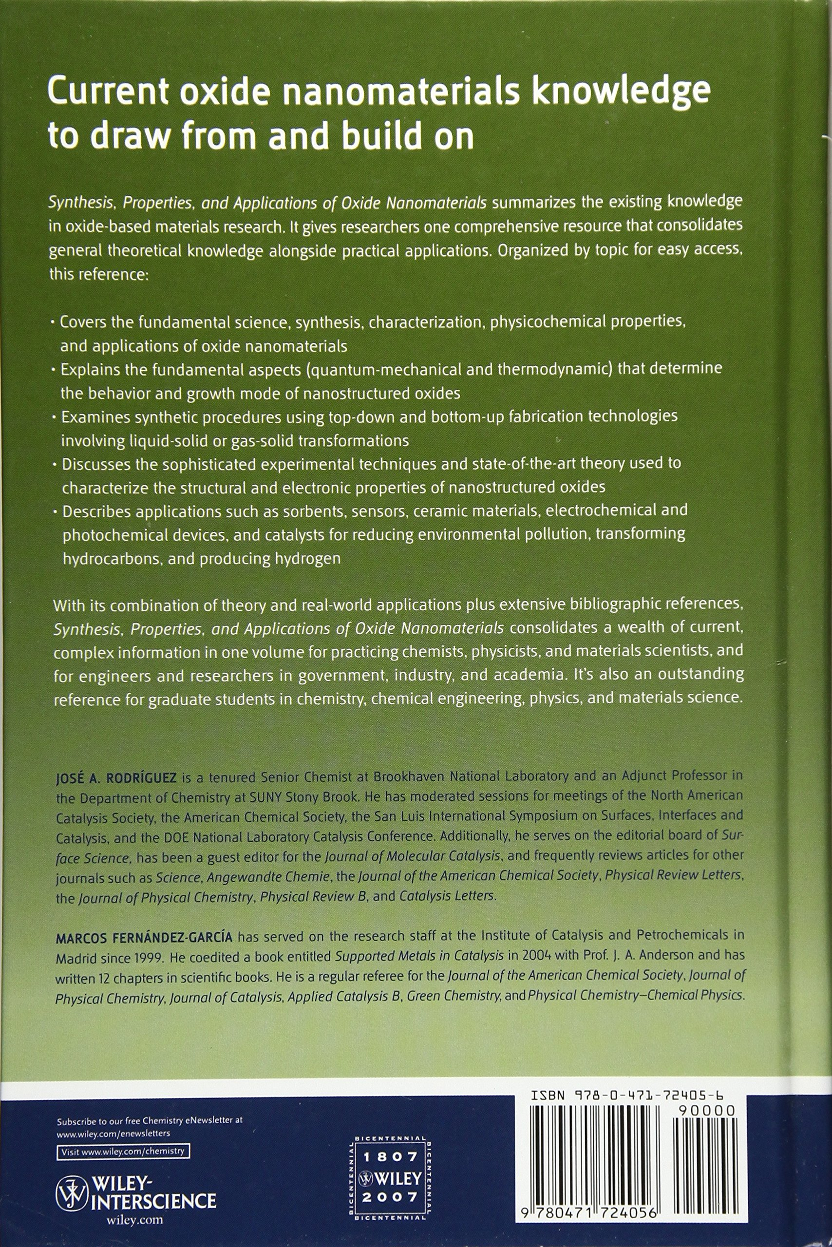 Buy Synthesis, Properties, and Applications of Oxide Nanomaterials ...