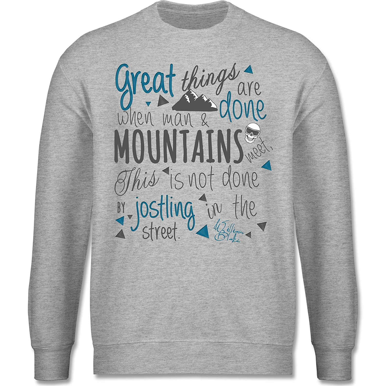 Après Ski - Great things happen Mountain - schlichter Herren Pullover