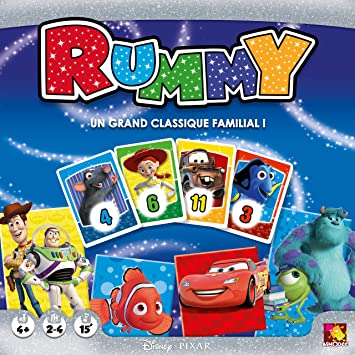 Asmodee – disrum01 – Juego de connaissances – Rummy Disney: Amazon ...