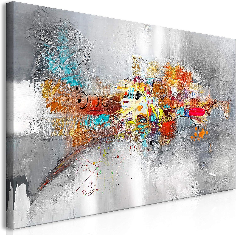 murando Handart Cuadro en Lienzo Abstracto 140x70 cm Cuadros Decoracion Salon Modernos Dormitorio Impresión Pintura Moderna Arte Colorido a-A-0415-b-a