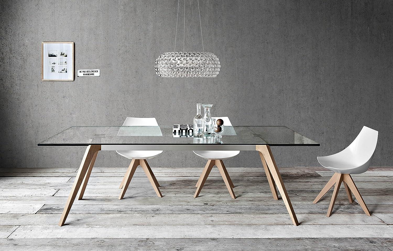 Pianca Delta + Gamma: Mesa de Comedor Moderna + Juego de Seis sillas: Amazon.es: Juguetes y juegos