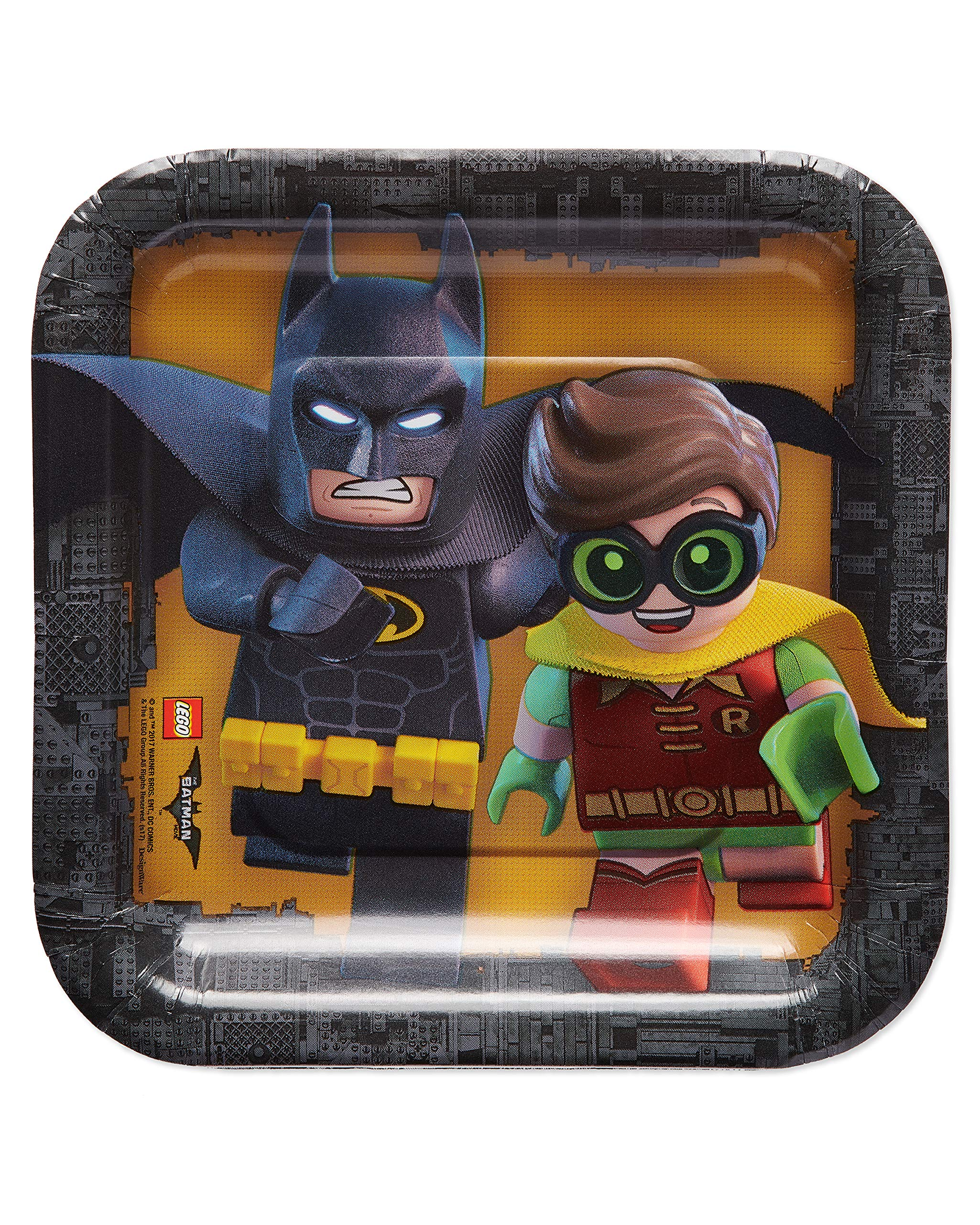 American Greetings Lego Batman 40-Count Dessert Square Plate Small by American Greetings