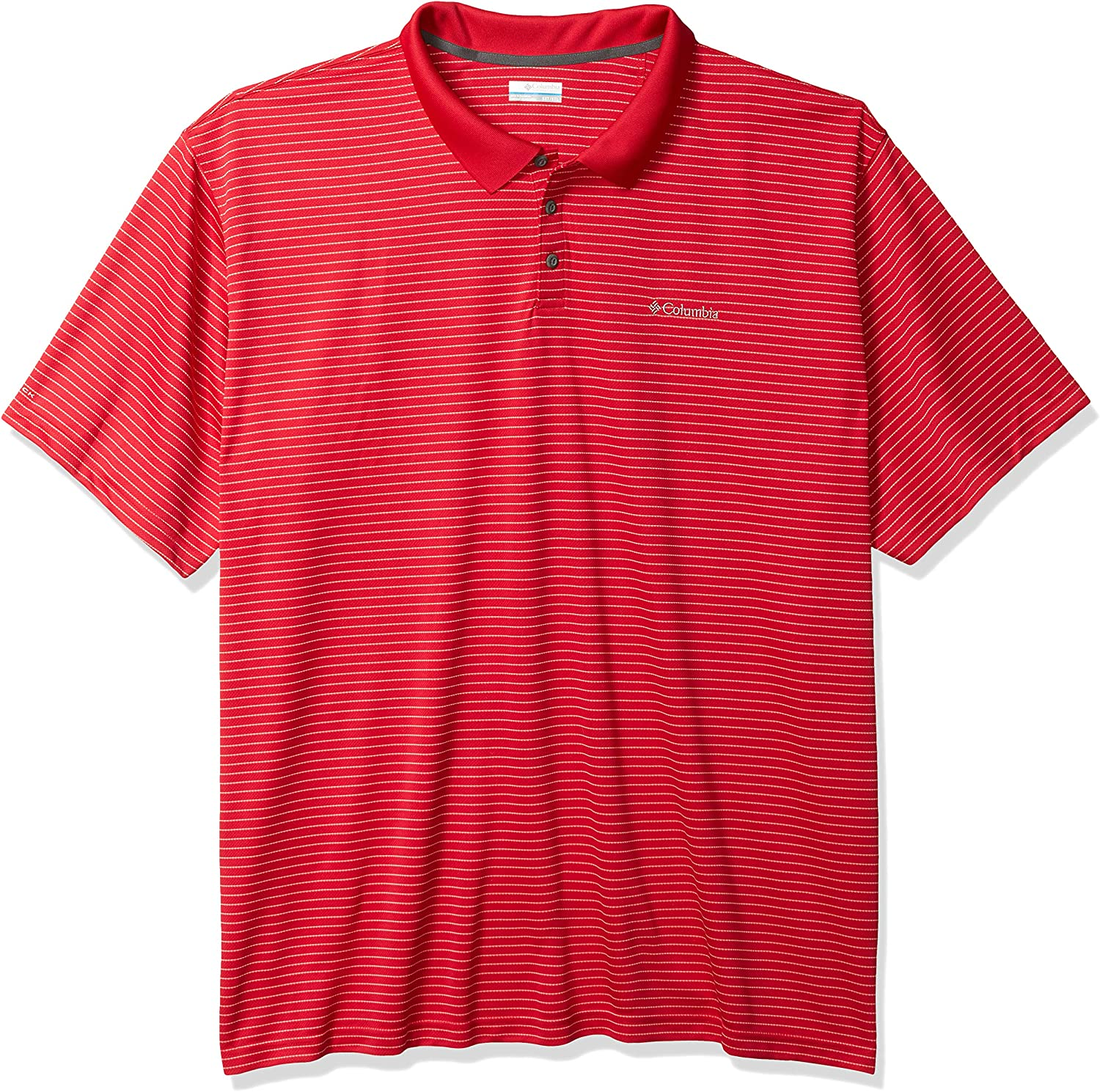 Columbia Men's Utilizer Stripe Polo III, Moisture Wicking, Sun Protection at  Men's Clothing store