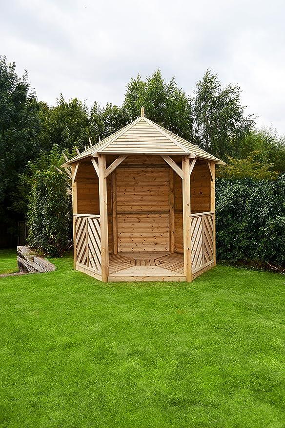 HGG – Enclosed Gazebo – Carpa con laterales – Cenadores de madera y pérgolas – Patio al aire libre muebles de jardín de madera maciza: Amazon.es: Jardín