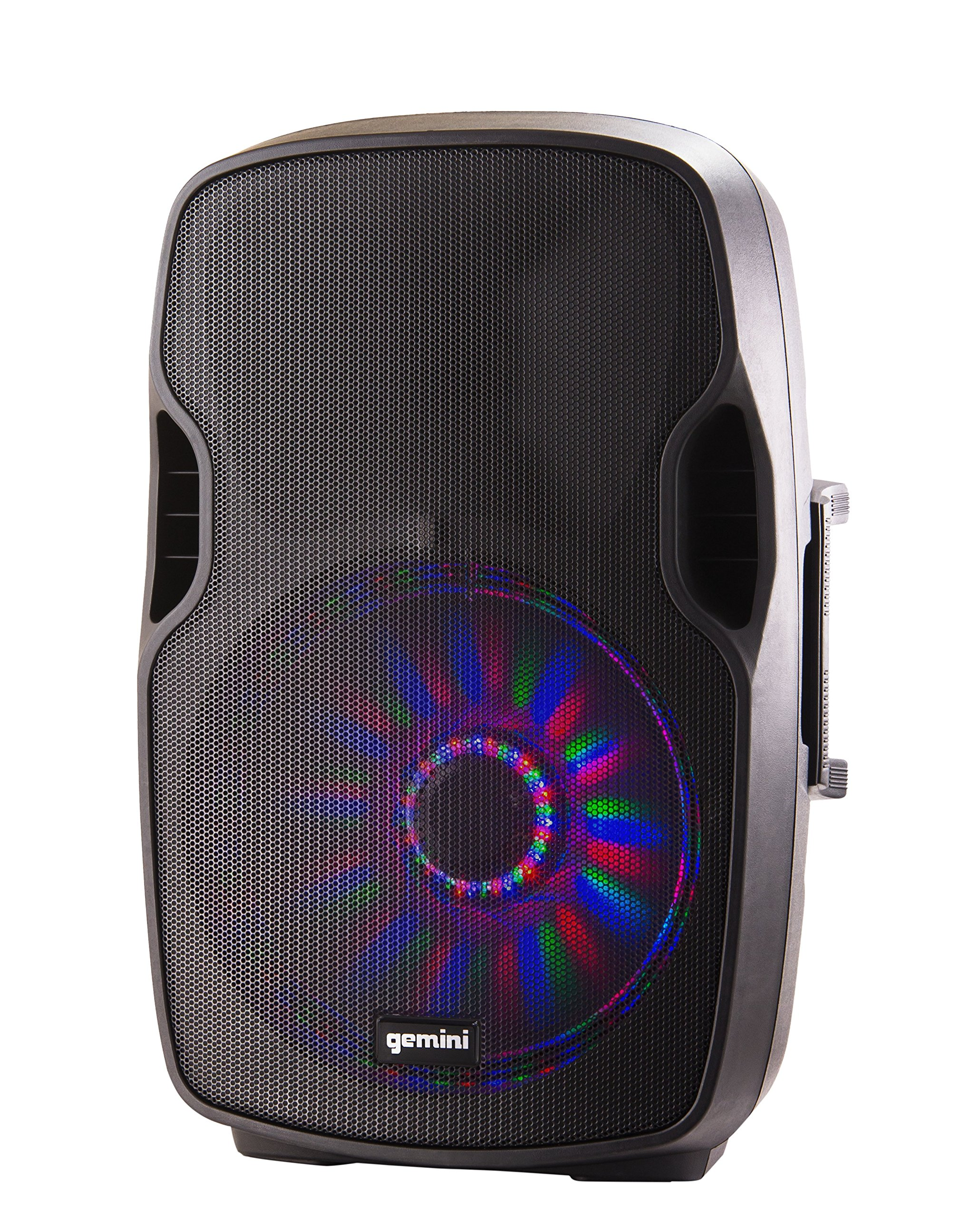 Gemini AS Series Professional Audio 15-inch Portable Active PA Loudspeaker with Bluetooth Compatibility, Mic and Line XLR, 1/4'', 1/8'' & RCA inputs by Gemini