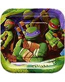 Nickelodeon Teenage Mutant Ninja Turtles Dessert Square Plate Small, Dessert Plates, 40-Count