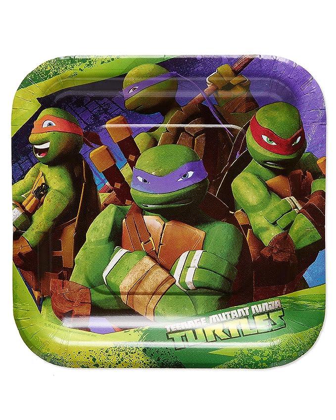 American Greetings Teenage Mutant Ninja Turtles (TMNT) Party Supplies, Paper Dessert Plates (40-Count)