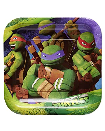American Greetings Teenage Mutant Ninja Turtles (TMNT) Party Supplies, Paper Dessert Plates (40-Count)