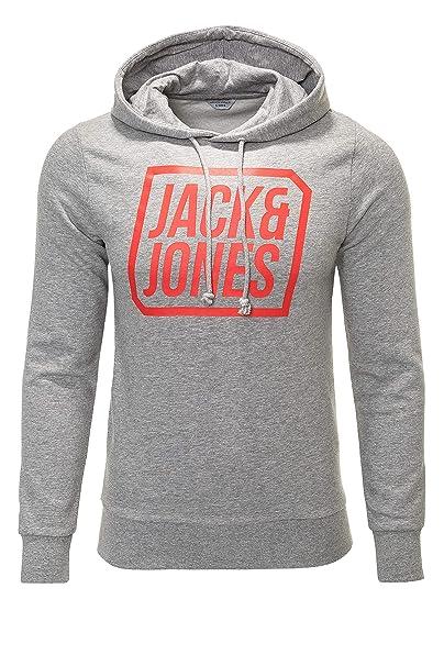 JACK & JONES - Sudadera con Capucha - Manga Larga - para Hombre Gris Claro Medium