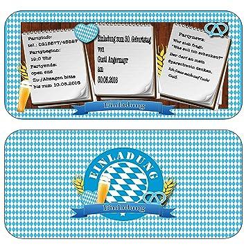 Einladungskarten Zur Feier, Party, Fest Oktoberfest Bayrisch Geburtstag  Einladung Eintrittskarte Mit Text U0026 Inkl