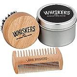 John Whiskers Bartbürste und Duo-Bartkamm - Bartpflege-Set mit reinen Wildschweinborsten & edler Aufbewahrungs-Box - Ideal für Bartöl & Bartwachs