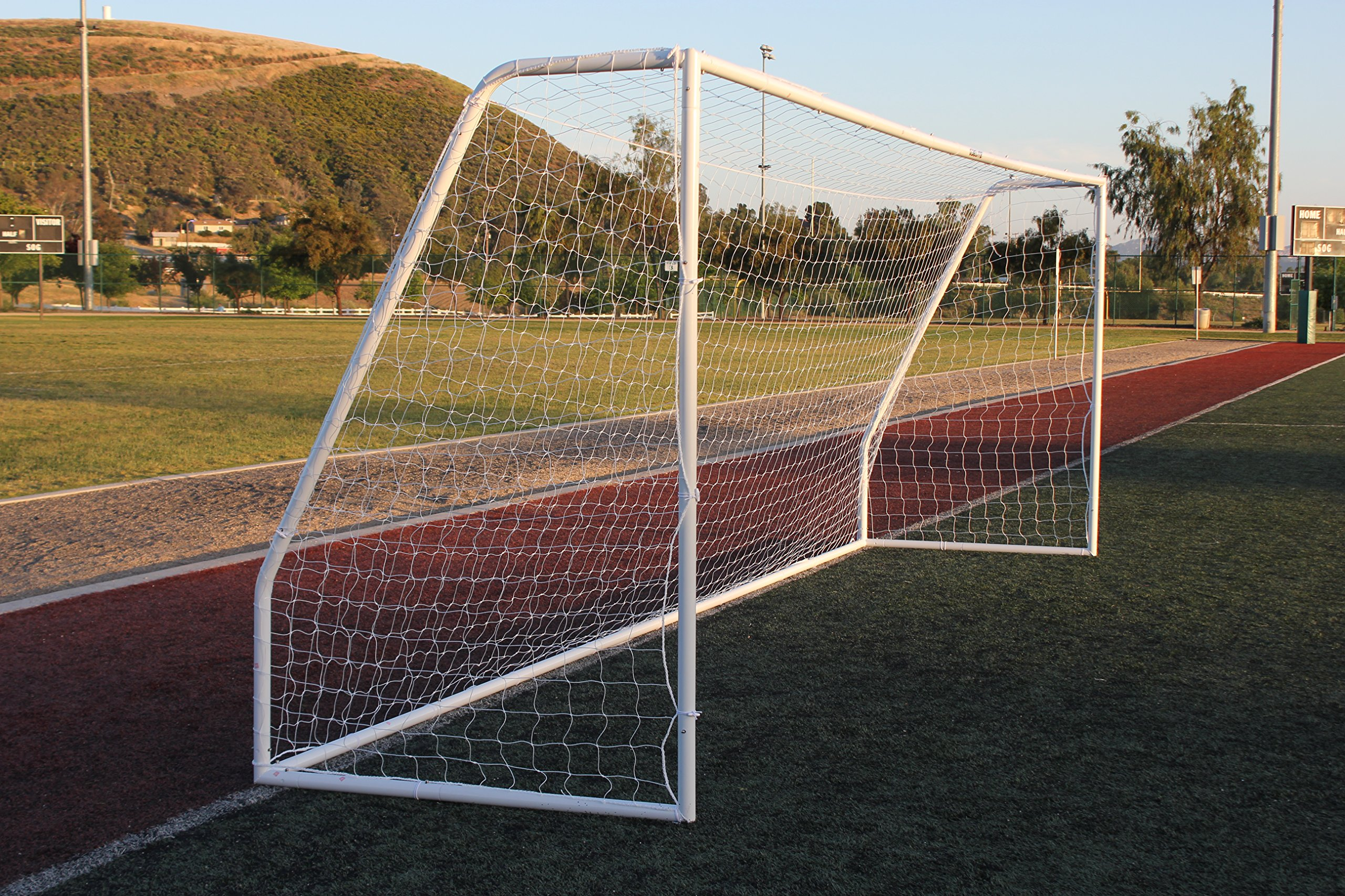 G3Elite Pro 18½ x 6½ Regulation Junior Youth Soccer Goal (Discounted Less Than Perfect Item), (1) Net, Strongest Portable Steel Post Design w/Patented Corrosion Resistant Coating, 6.5 x 18.5, 18x6