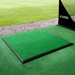 FORB Driving Range Golf Practice Mat | Professional Quality | Optional Rubber Base & Tray