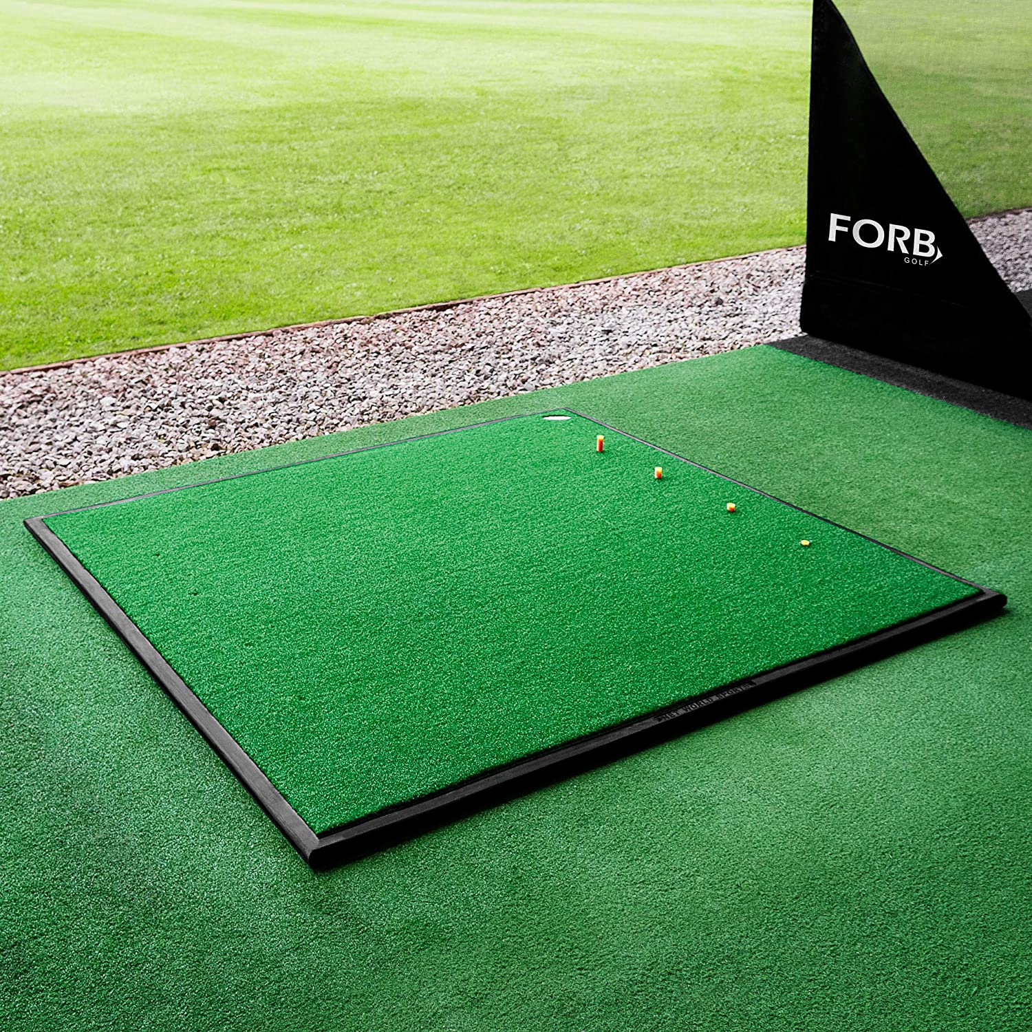 FORB Driving Range Golf Practice Mat Professional Quality Optional Rubber Base Tray