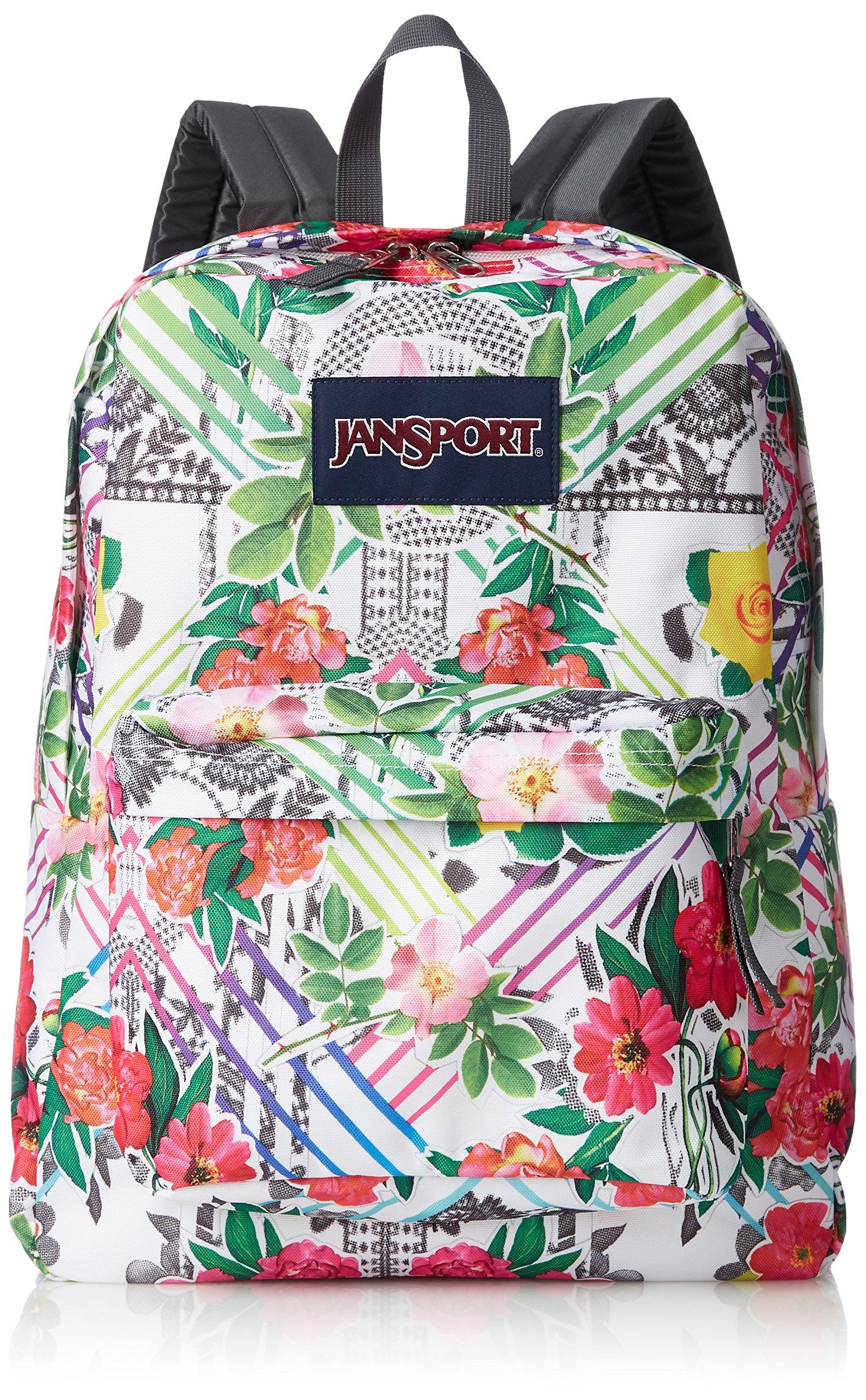 JanSport Superbreak Backpack- Sale Colors (Collage Floral)