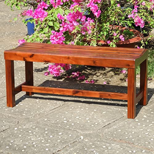 International Caravan Highland Acacia 42 Backless Garden Bench